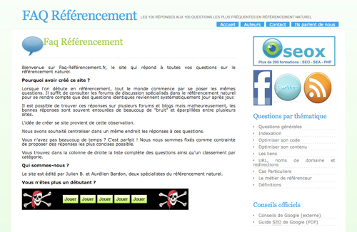 FAQ referencement